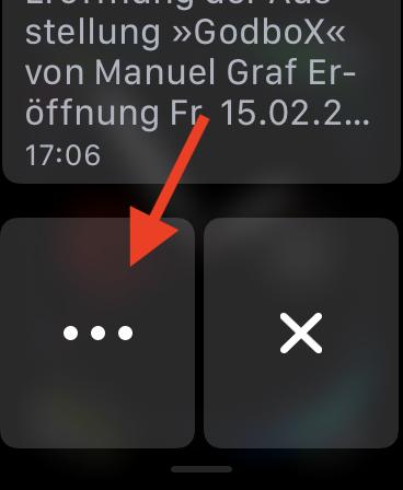 Mitteilungen auf der Apple Watch einstellen Apple Watch Mitteilungszentrale