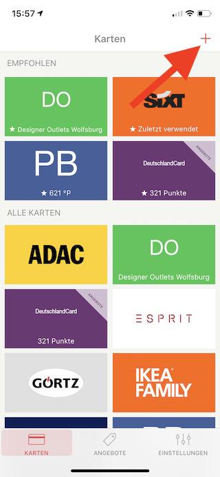 Stocard Digitale Kundenkarten auf dem Apple iPhone und der Apple Watch Karte hinzufügen