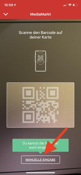Stocard Digitale Kundenkarten auf dem Apple iPhone und der Apple Watch Kartennummer manuell eingeben