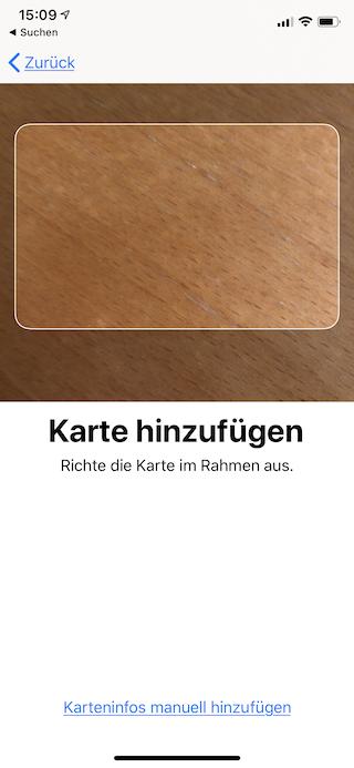 Apple Pay auf dem Apple iPhone und der Apple Watch einrichten und verwenden Apple iPhone Wallet Karte scannen