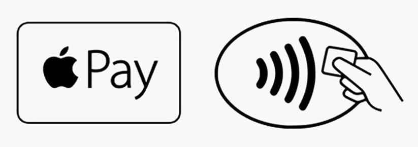 Apple Pay auf dem Apple iPhone und der Apple Watch einrichten und verwenden Logos