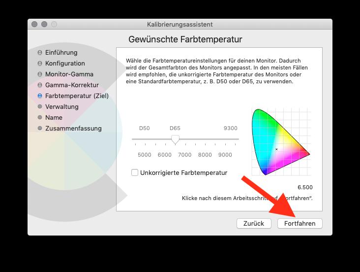 Externen Monitor am MacBook MacBook Air oder Pro ohne Farbkolorimeter kalibrieren Farbtemperatur