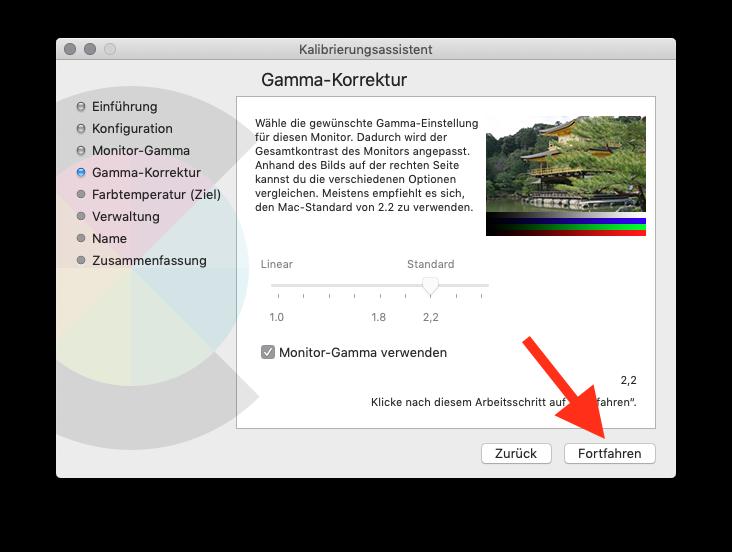 Externen Monitor am MacBook MacBook Air oder Pro ohne Farbkolorimeter kalibrieren Gamma-Korrektur