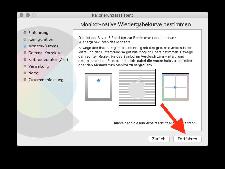 Externen Monitor am MacBook MacBook Air oder Pro ohne Farbkolorimeter kalibrieren Monitor-Gamma 3
