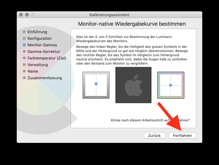 Externen Monitor am MacBook MacBook Air oder Pro ohne Farbkolorimeter kalibrieren Monitor-Gamma 4