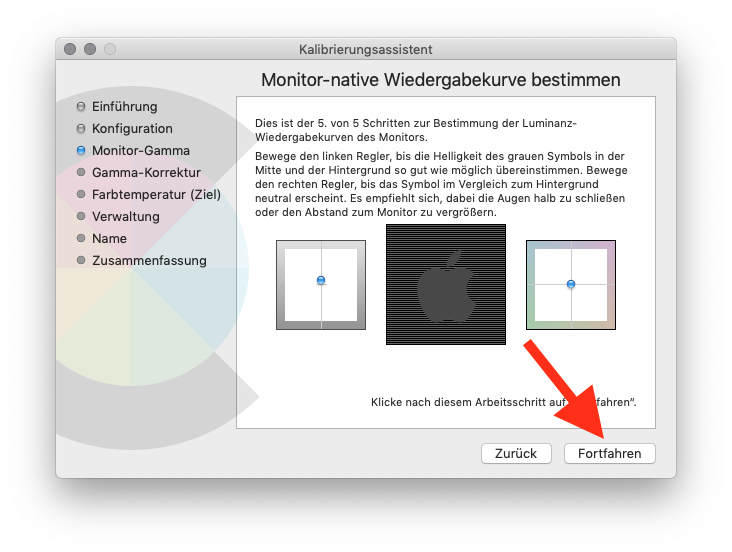 Externen Monitor am MacBook MacBook Air oder Pro ohne Farbkolorimeter kalibrieren Monitor-Gamma 5