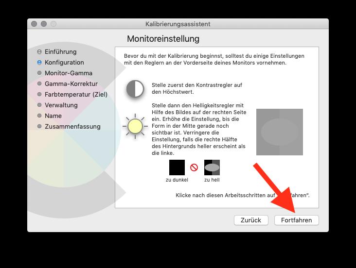 Externen Monitor am MacBook MacBook Air oder Pro ohne Farbkolorimeter kalibrieren Monitoreinstellung