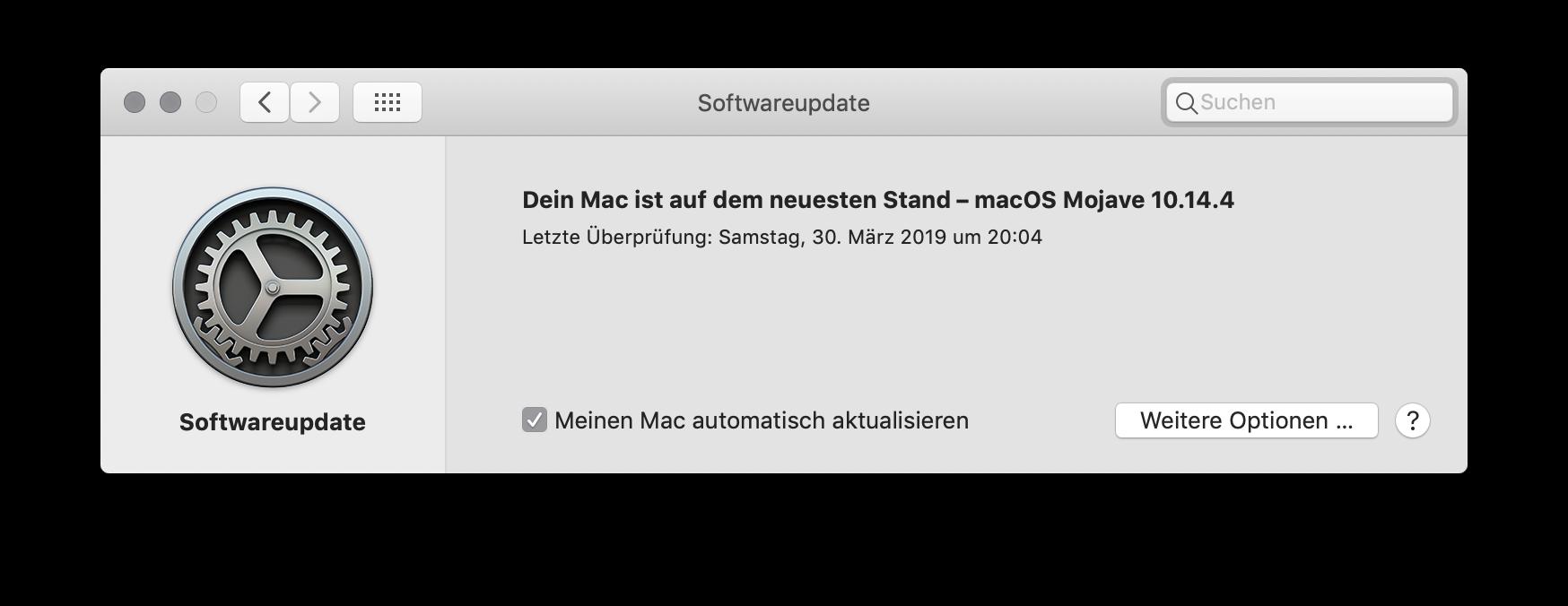 Updates für das System und Apps unter macOS einstellen Meinen Mac automatisch aktualisieren