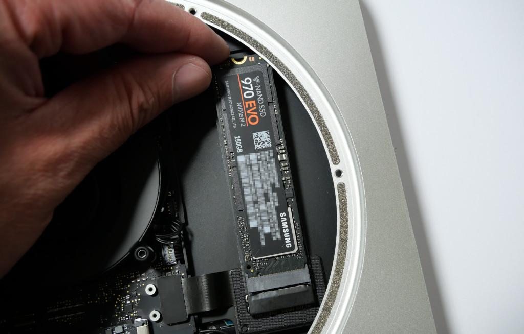 Turbo für den Mac mini PCIe-SSD einbauen SSD einbauen