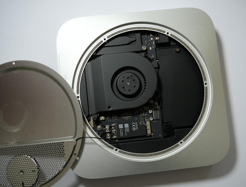 Turbo für den Mac mini PCIe-SSD einbauen offener Mac mini